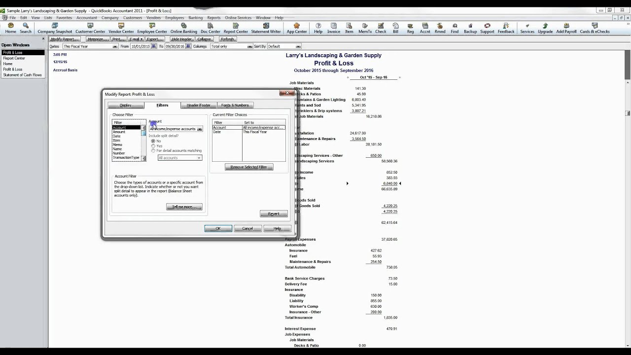 QuickBooks Introduction to Reports - YouTube