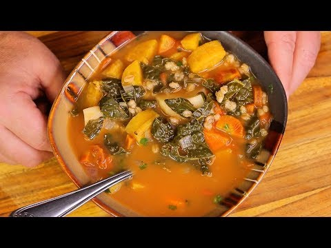 Vegan Barley Soup Healthy Recipe Channel