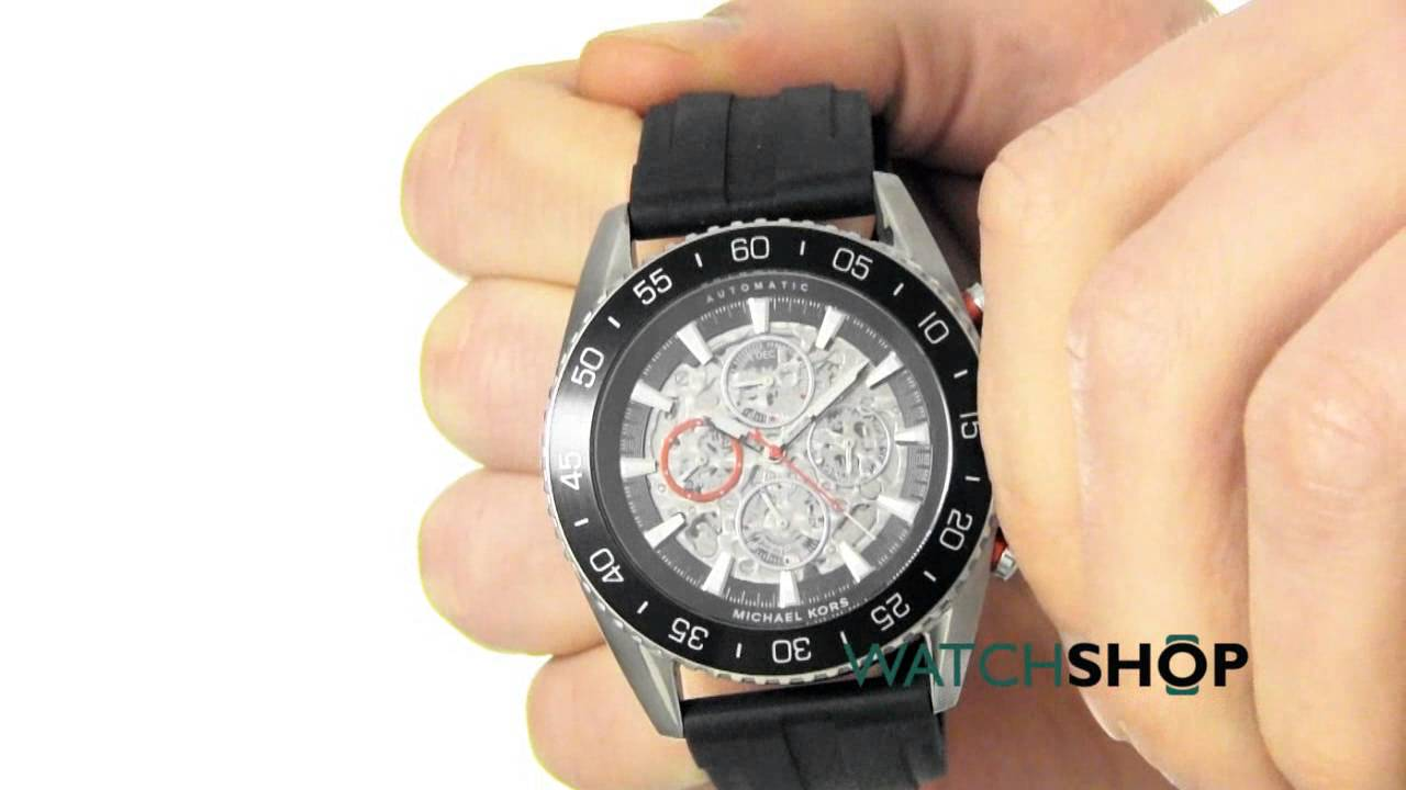 3517dc67e53f Michael Kors Men s Jetmaster Automatic Watch (MK9013) - YouTube