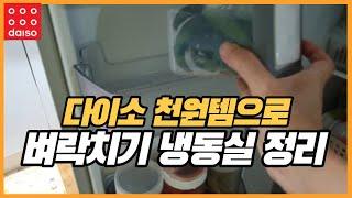 다이소 천원템으로 초스피드 냉동실 정리 / 재활용품 활…