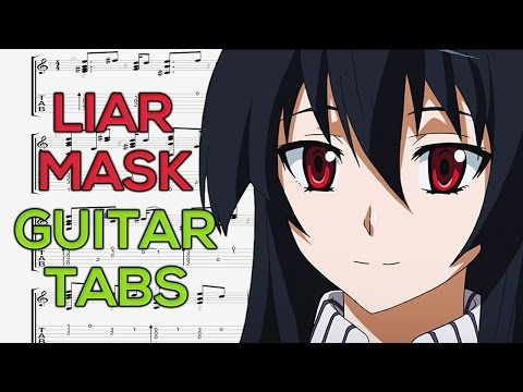 Akame ga Kill - Liar Mask (Opening 2) Guitar Tutorial | Guitar Lesson + TABS