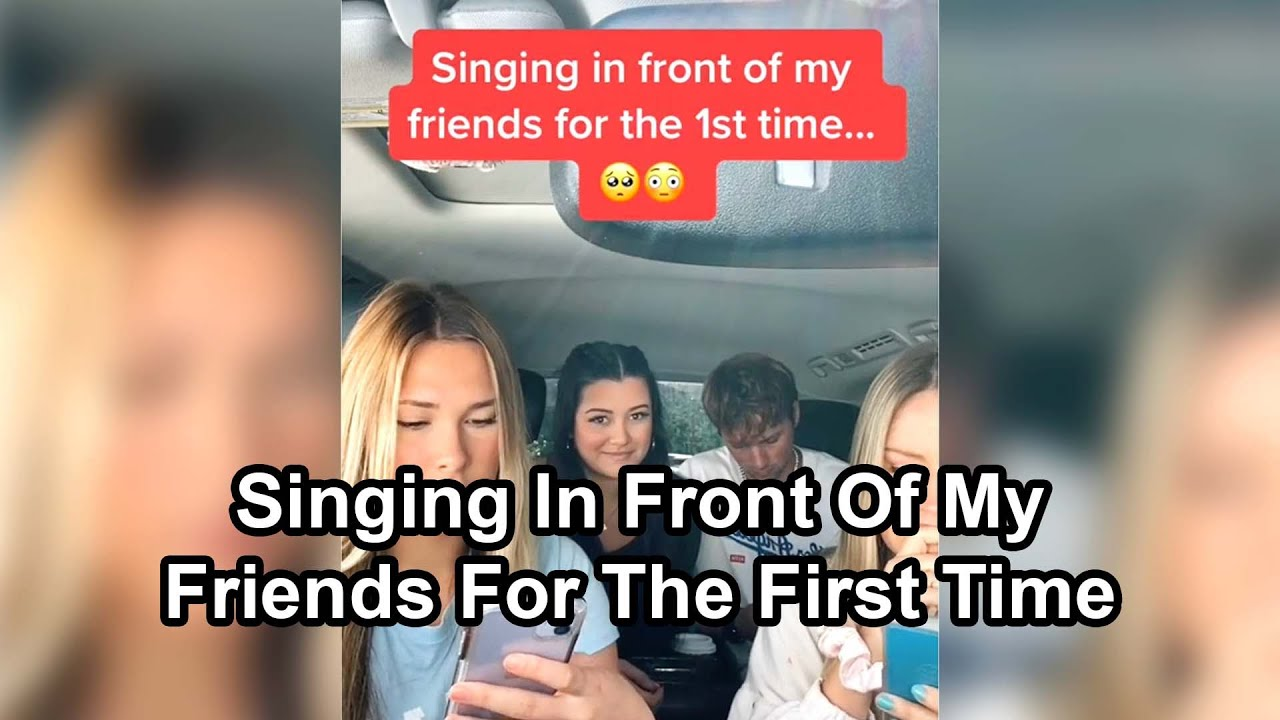 Singing In Front Of Friends For The *FIRST* Time Compilation 😳 🥰 (Heartwarming Reactions)