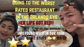 Going to the worst rated restaurant in My city! Her lips got super red