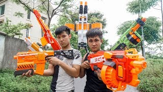 Battle Nerf War: Specialist Hunters Nerf Guns Zombies Team Battle Transformer Lamborghini