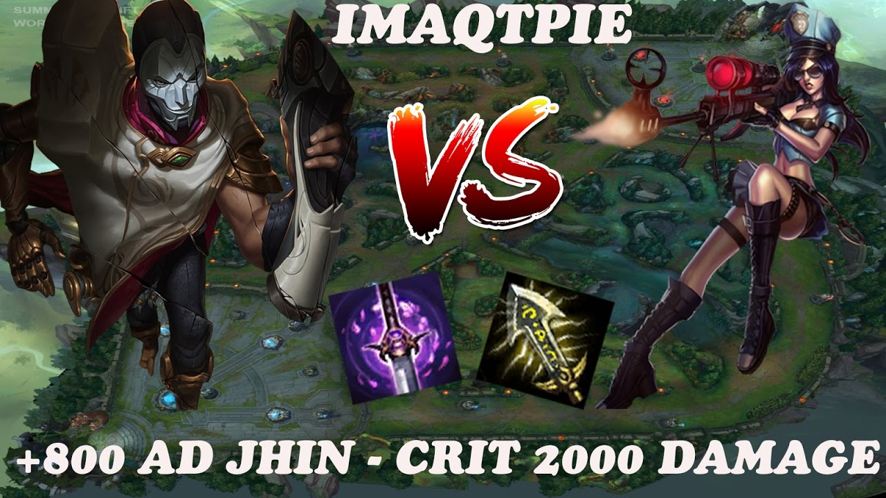 +800 AD IMAQTPIE Jhin Build Full AD Carry - Crit Damage 2000 - Patch 6.21 -  YouTube