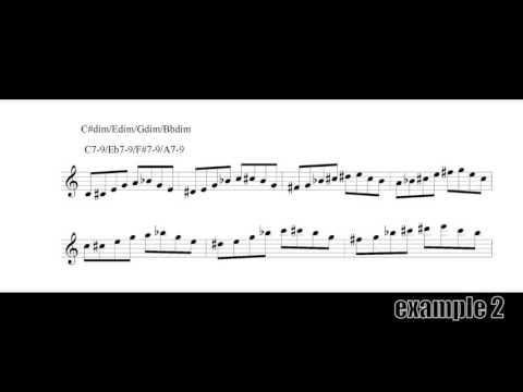 Diminished scale ideas 3 Jazz Saxophone Lessons