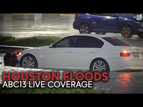 LIVE: Homes, cars underwater after Houston gets nearly a foot of rain