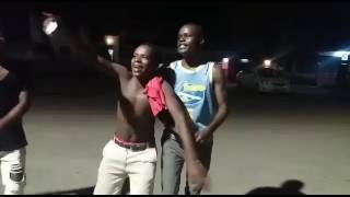 Poor students celebrates after their saviour Sultan Daniel Otieno was announced the president