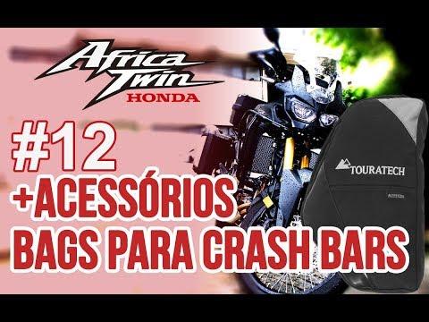 Motovlog #12 Honda Africa Twin CRF1000L - Bags para Crash Bars e mais duas de letra.
