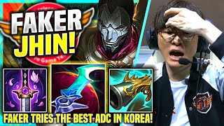 FAKER TRIES THE BEST ADC IN KO…