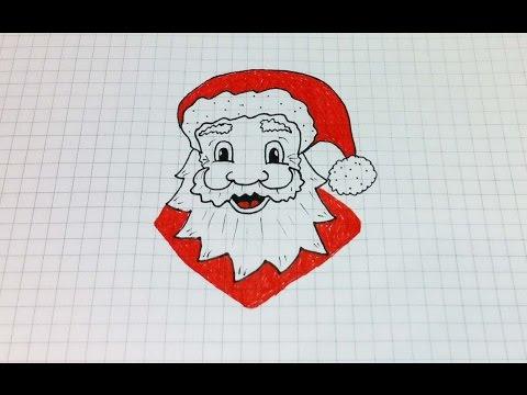 Простые рисунки #163 Как нарисовать Деда Мороза =)