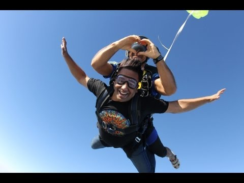 Skydiving in Spain