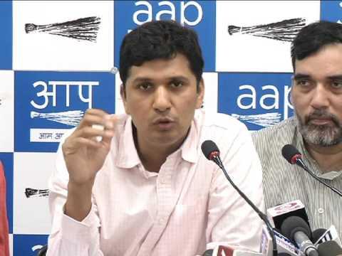 Aap Chief Spokesperson (Delhi) Brief's Media on EVM Challenge