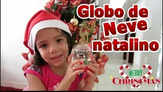 DIY Globo de Neve Natalino
