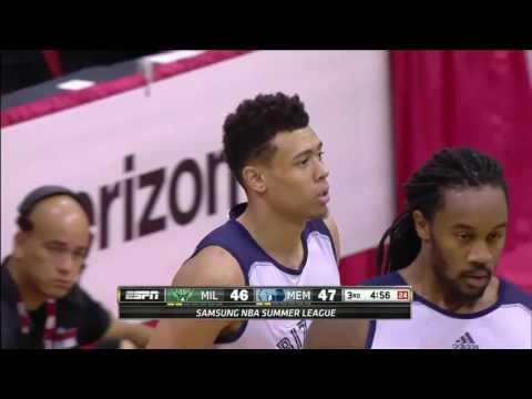 Milwaukee Bucks vs Memphis Grizzlies   July 11, 2016   NBA Las Vegas Summer League 2016