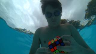 4x4 rubik's cube solved underwater in 50 seconds (serial solver #5)