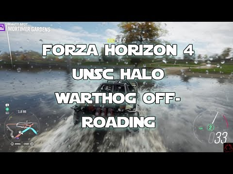 Forza Horizon 4 UNSC Halo Warthog Vehicle Preview and Blueprint Race