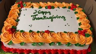 #cakeidea Bizcocho decorado para dia de gracias-idea / thanksgiving day cake idea