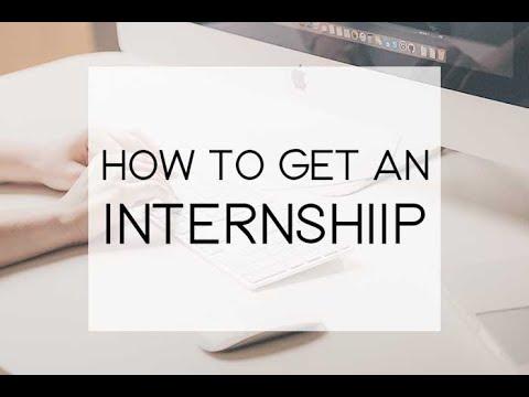 Getting an Internship in the U.S.