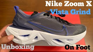 Nike Zoom X Vista Grind Unboxing, Detailed Review & On Foot. Racer Blue Vista Grind.
