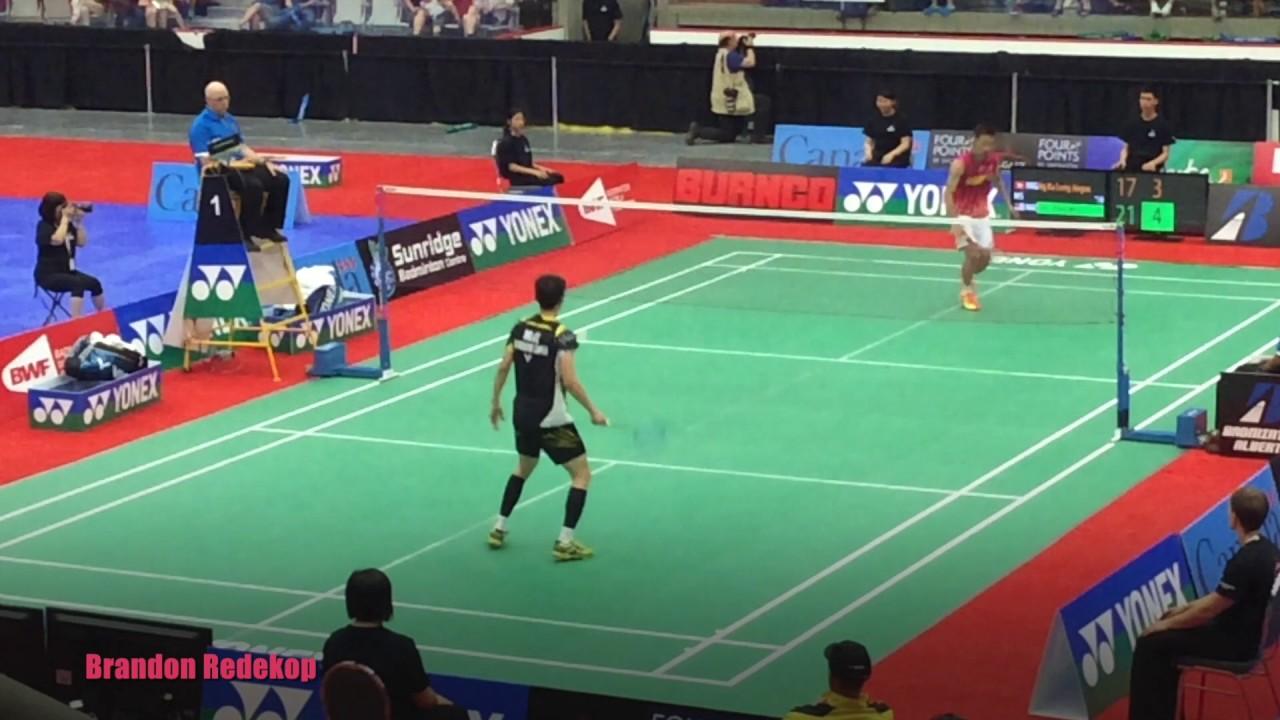 Lee Chong Wei vs Ng Ka Long Nice Camera Angle Highlights