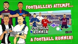 Footballers Attempt a Football Runner!⚽️⬅️🏃♂️
