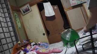 昨年9月秋田県北秋田市のおもしろ市場鷹巣店で買ってきたけろけろけろっぴビーチボール80cmを自転車空気入れで膨らましてみました。(...