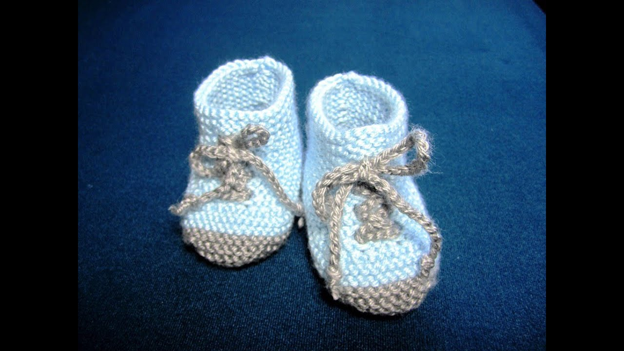 30279b973ba0 How to Knit Baby Booties Shoes Part - 3 - YouTube