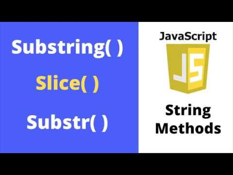 JavaScript Substring Example - Slice, Substr, and Substring Methods in JS