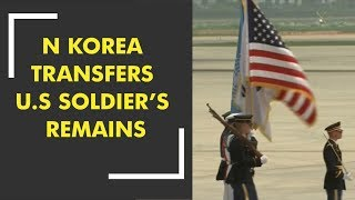 North Korea transfers US soldiers' remains
