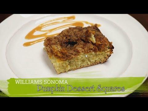 Williams Sonoma Pumpkin Dessert Squares