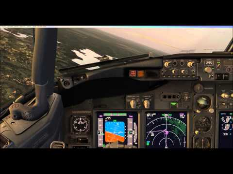 FSX PMDG 737 NGX  London Stansted To Oslo Rygge Part 3
