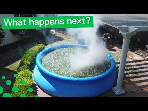 Man Throws 'Sodium Bomb' Into Orbeez Pool