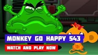 Monkey GO Happy: Stage 543 — Inside a Computer · Game · Walkthrough