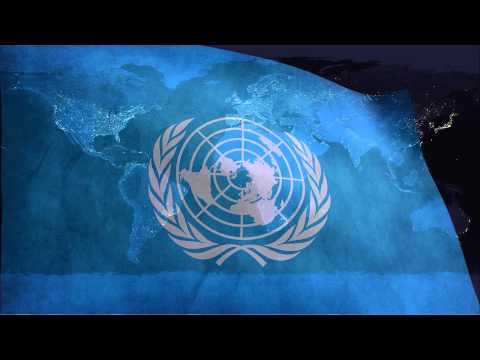 United Nations flag & unofficial anthem