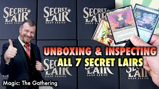 Magic: The Gathering Secret Lair Unboxing - Opening And Inspecting All 7 Drops