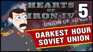 PUSHING INTO GERMANY! Hearts of Iron 4 Darkest Hour Soviet Union Campaign Part 5
