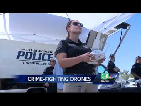 Drone helps Modesto police find suspects