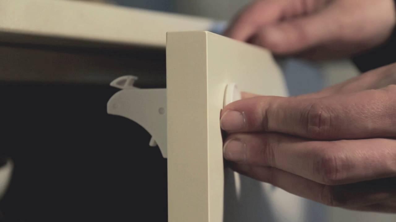 Blocca Ante Fai Da Te.Sicurezza Infantile Blocco Magnetico Per Cassetti A 1044360 Youtube