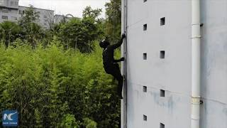 SWAT soldier training in SW China