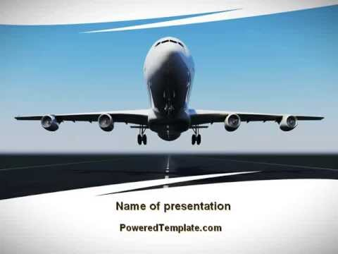 Air Plane PowerPoint Template by PoweredTemplate - YouTube