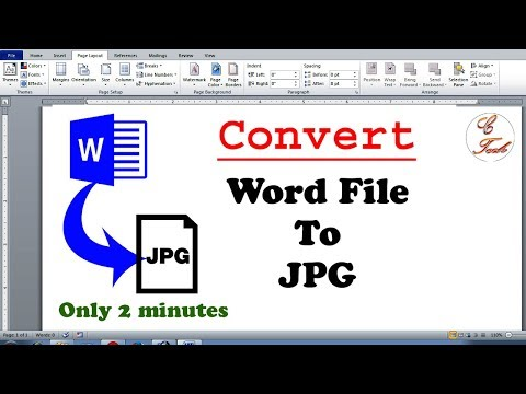 How To Convert Doc File To Jpeg File Only 2 Minutes