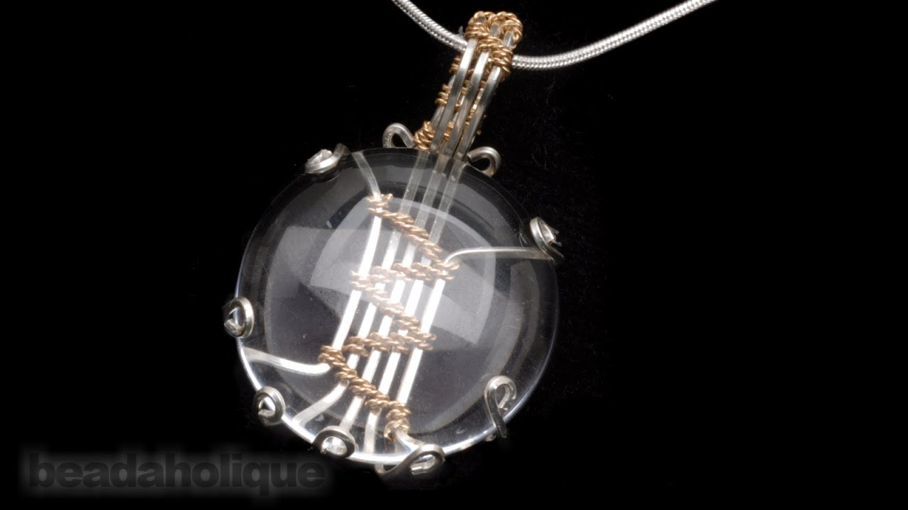 How to Make a Wire Wrapped Soumak Stone Setting by Wyatt White - YouTube