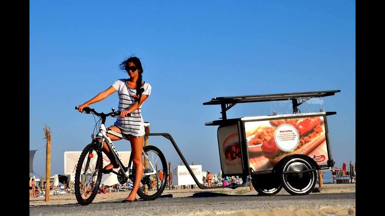 Hot Dog and Crepes bicycle ( Business Idea ) - YouTube