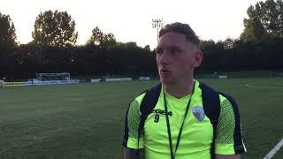 Declan McManus scores his first competitive goal for TNS FC, against Glentoran FC