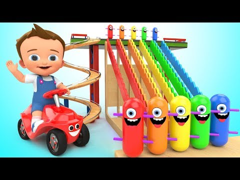 Thumbnail: Learn Colors for Children with Baby Game Play Wooden Toy Funny Clown Tumbling 3D Kids Educational