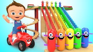 Learn Colors for Children with Baby Game Play Wooden Toy Funny Clown Tumbling 3D Kids Educational thumbnail