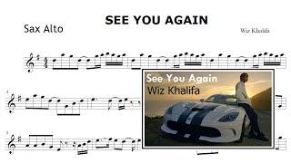 See You Again - Wiz Khalifa (Partitura Sax Alto - Sheet Music)
