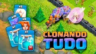 estratgia com novo feitio de clone deu certo clash of clans
