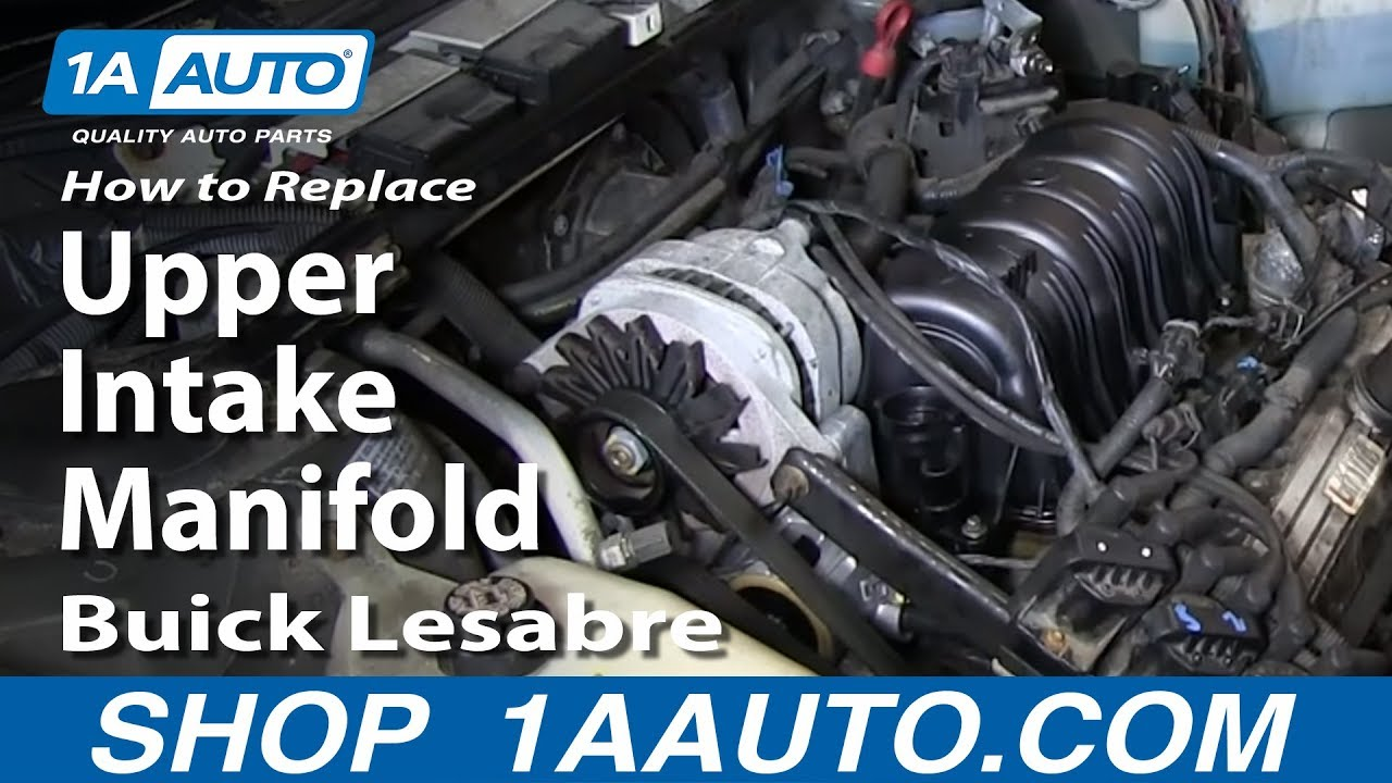 how to replace install upper intake manifold 1996 05 buick lesabre many gm 3 8l 3800 [ 1280 x 720 Pixel ]